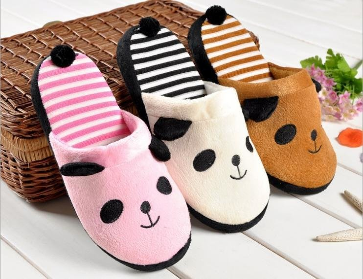 Best Cute *D*Lt Cartoon Indoor Shoes Bedroom Slippers Soft Outsole Massage Panda Shoes Female With Pictures