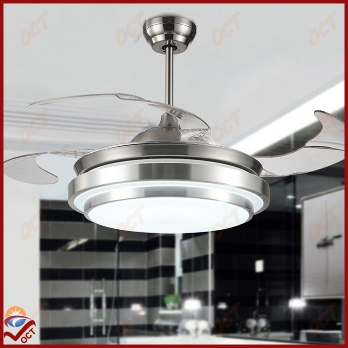 Best Modern 85 265V Led Quiet Luxury Folding Ceiling Fan Light With Pictures