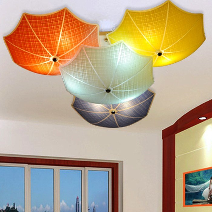 Best Modern Children Bedroom Ceiling Lamps Multicolour Umbrella With Pictures