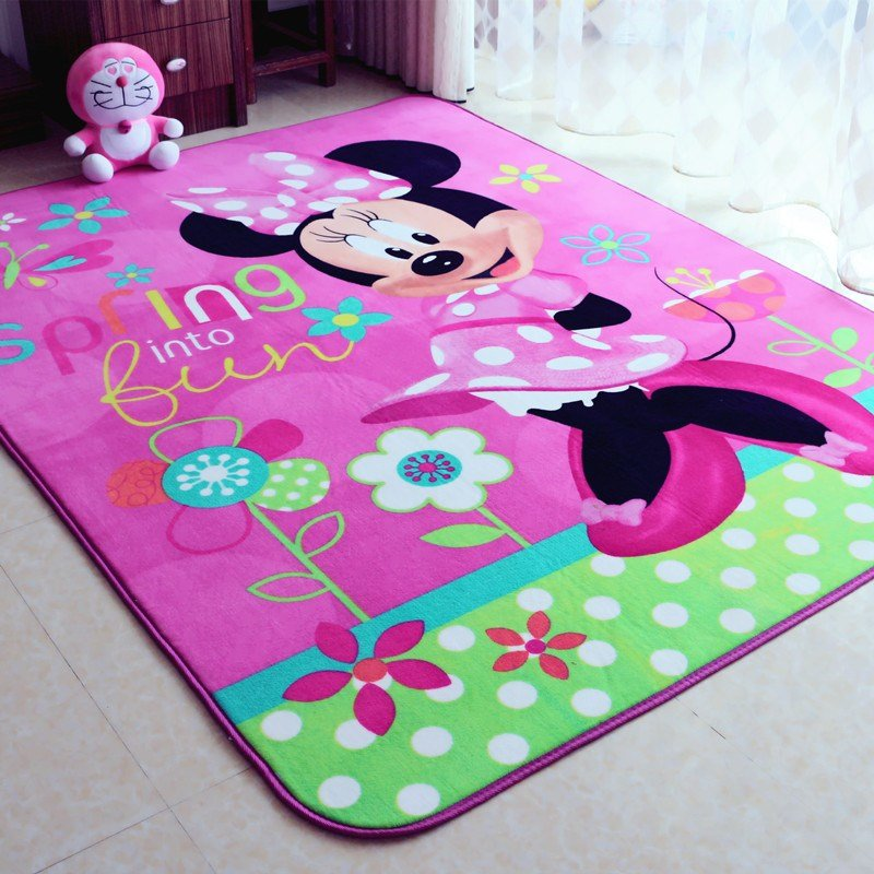 Best Child Girl Lovely Minnie Mouse Pink Game Carpet With Pictures