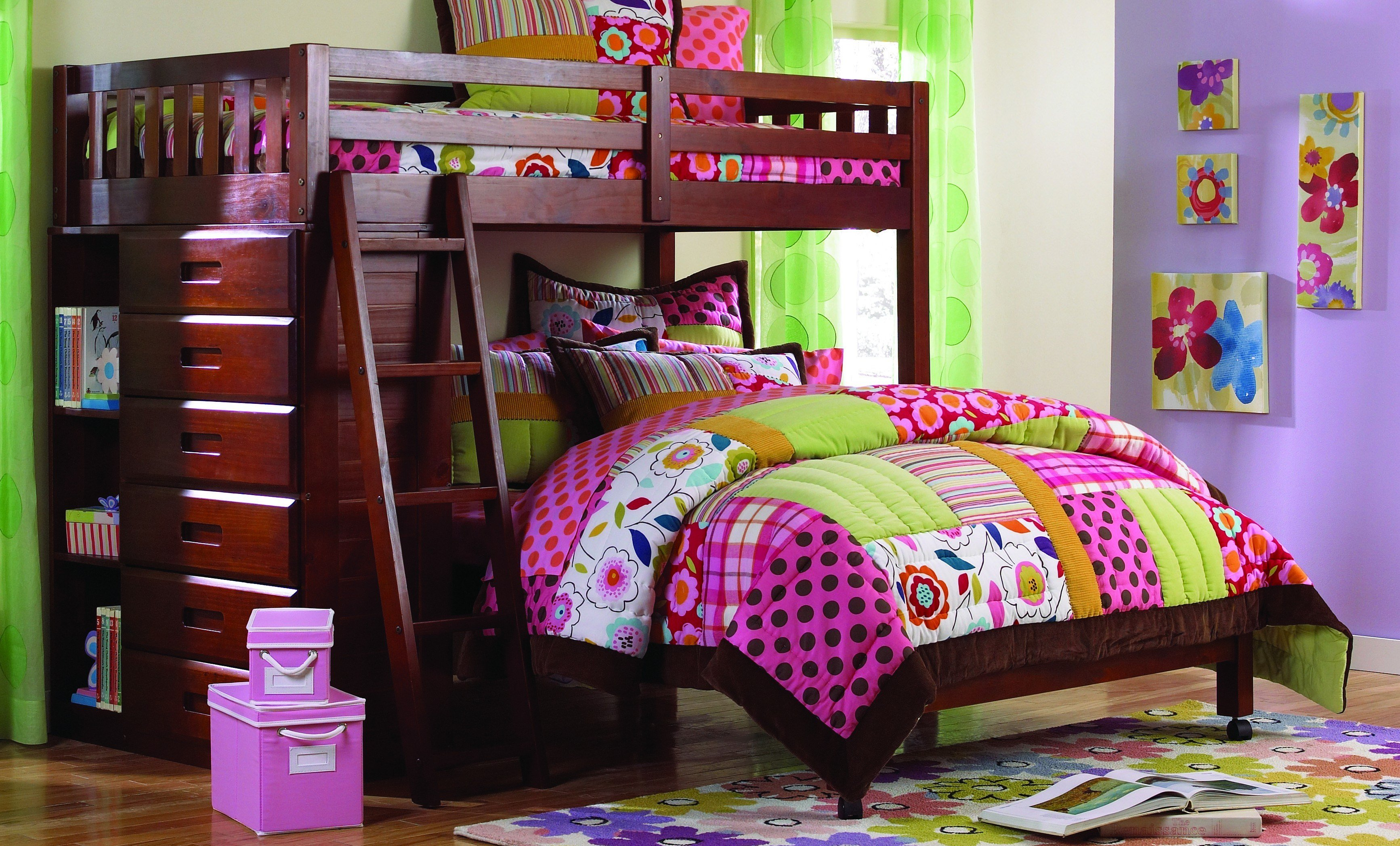 Best Discovery World Furniture Twin Over Full Merlot Loft Beds With Pictures