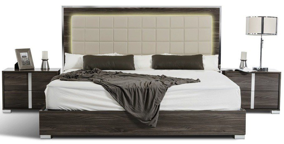 Best San Francisco 5Pcs Modern Grey Bedroom Set With Pictures