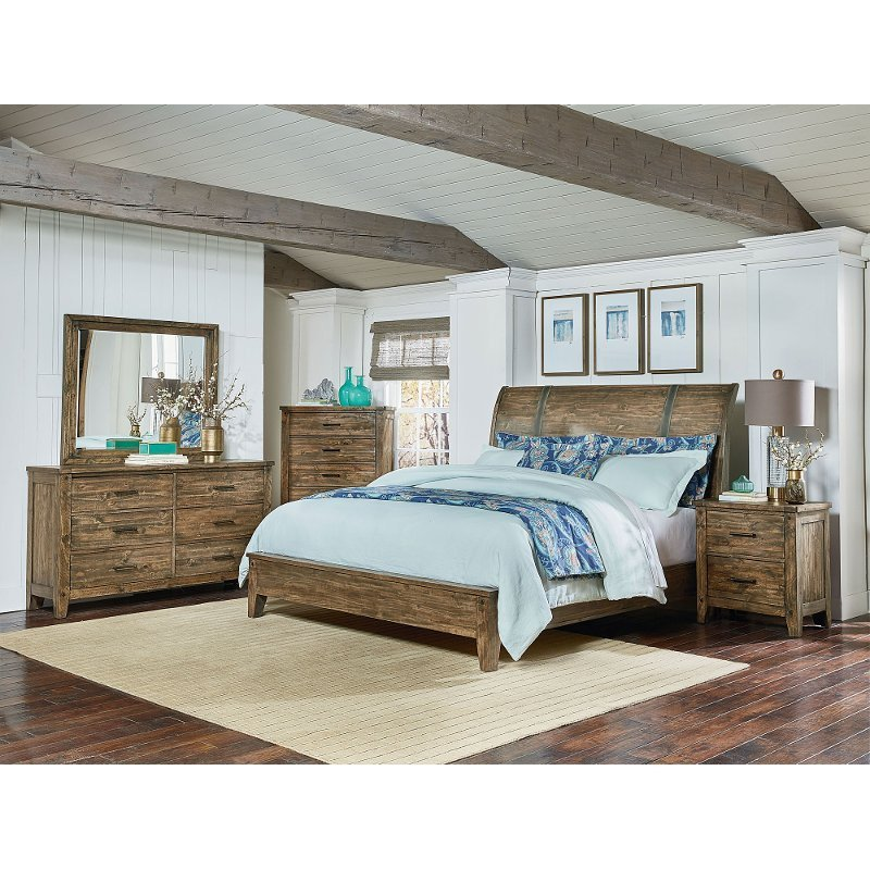 Best Rustic Casual Pine 6 Piece Queen Bedroom Set Nelson Rc With Pictures