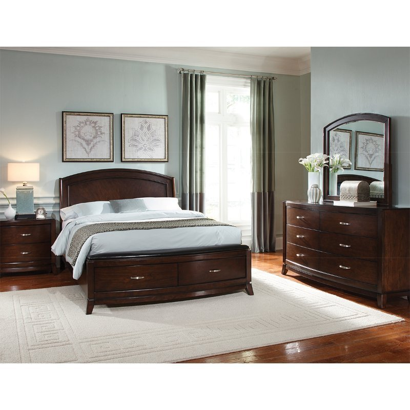 Best Avalon Brown 6 Piece Queen Bedroom Set Rcwilley Image1 800 Jpg With Pictures