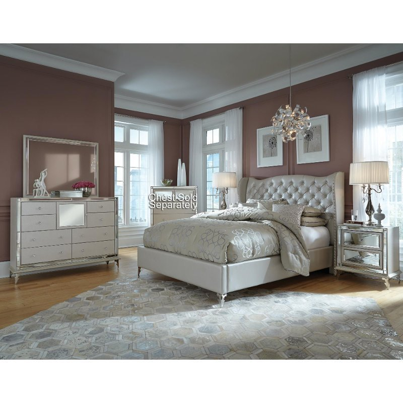 Best Hollywood Pearl Queen Bedroom Set With Pictures