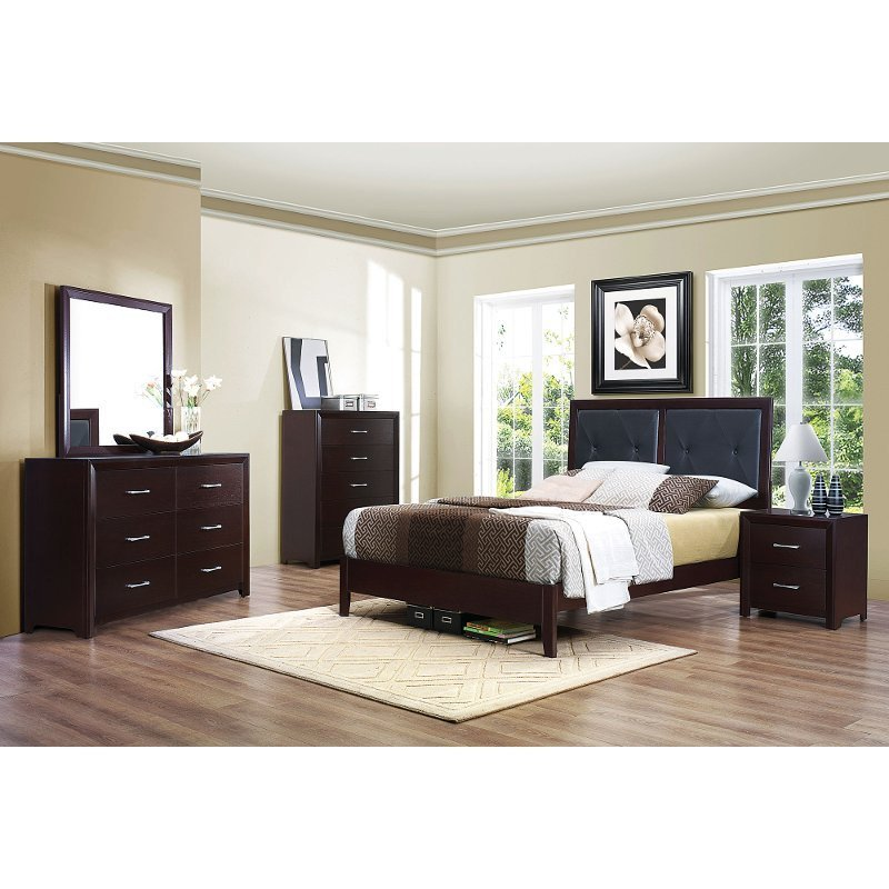 Best Contemporary Casual Espresso 6 Piece Queen Bedroom Set With Pictures
