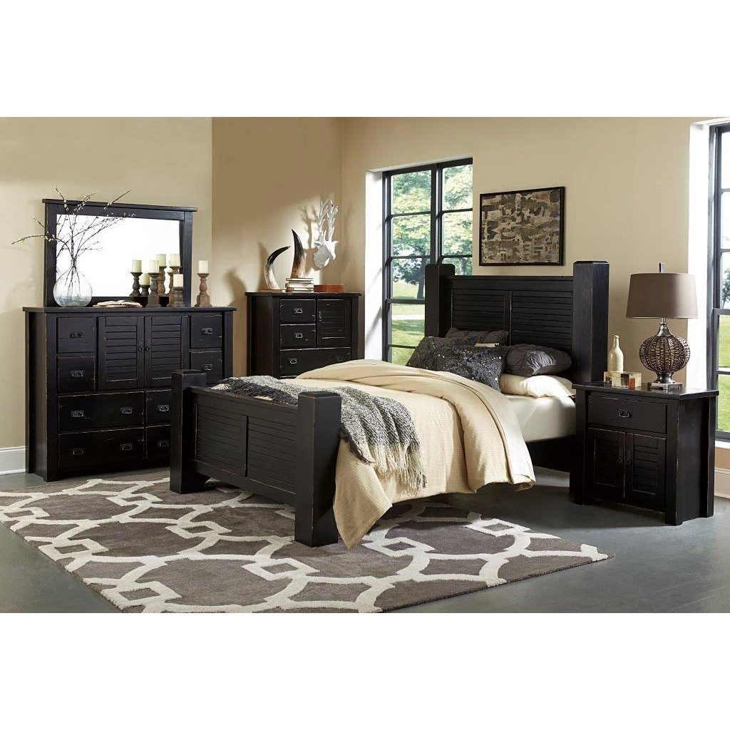 Best Trestlewood Black 6 Piece Queen Bedroom Set With Pictures