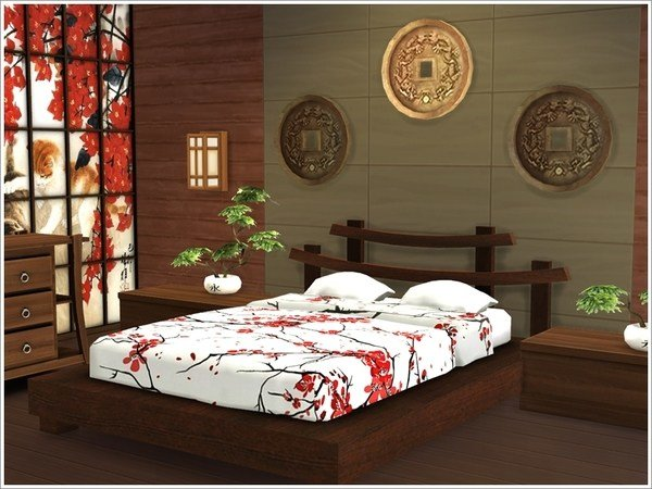 Best Asian Bedroom By Severinka At Tsr » Sims 4 Updates With Pictures