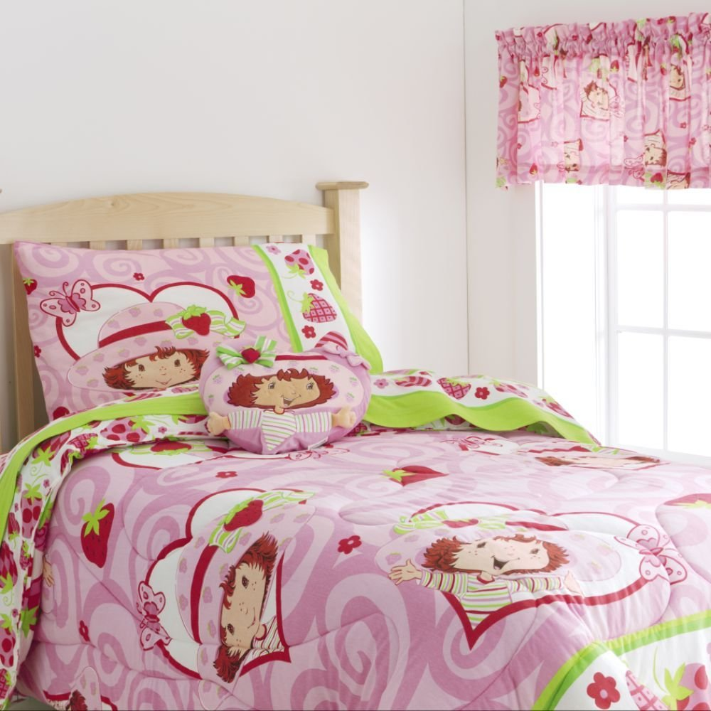 Best Strawberry Shortcake Twin Comforter Bed Bath Kids Bedding Various With Pictures