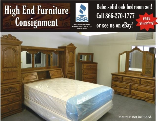 Best Bebe Solid Oak Bedroom Set Pier Wall Unit Boise Idaho With Pictures