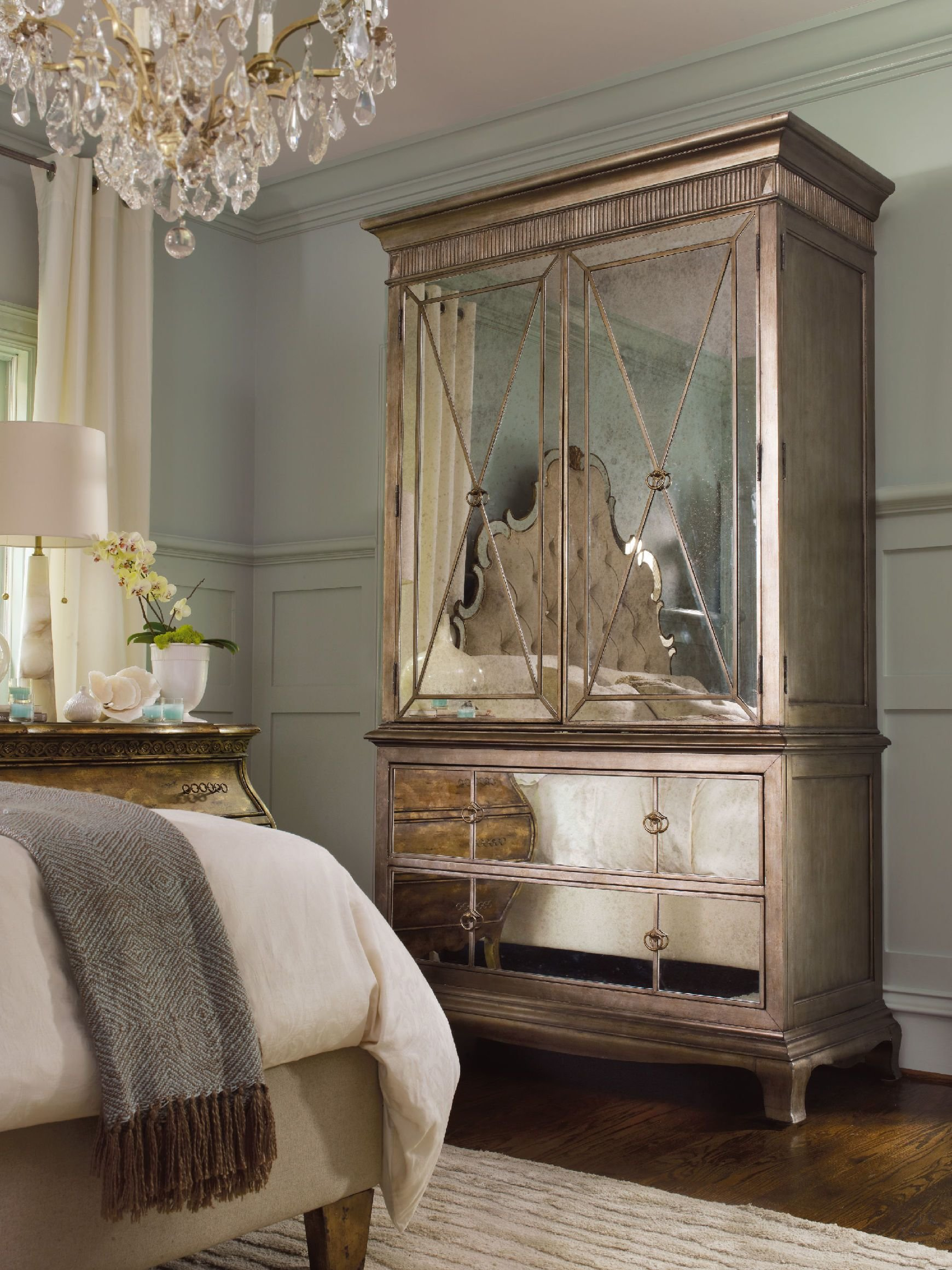 Best H**K*R Furniture Bedroom Sanctuary Armoire Visage 3016 With Pictures