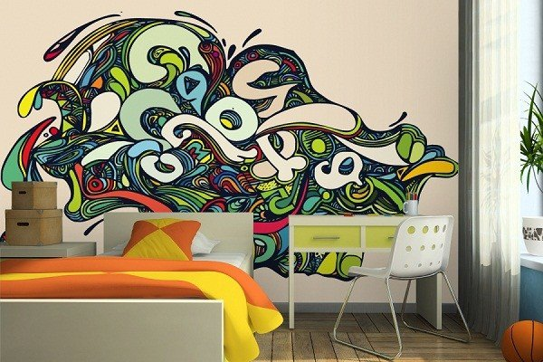 Best Awesome Look Of Creative Graffiti Bedroom Wall Murals Art With Pictures