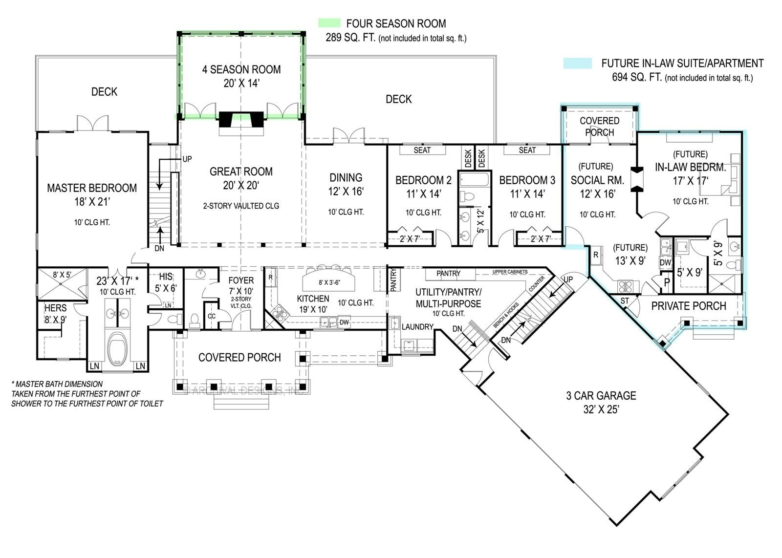 Best Pepperwood 9020 3 Bedrooms And 2 Baths The House Designers With Pictures