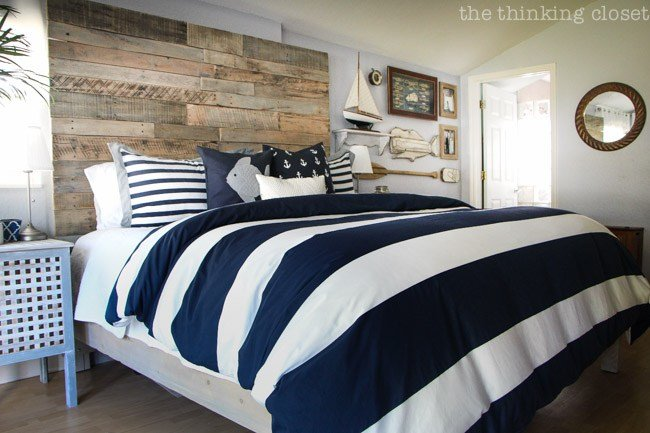 Best Before After Rustic Nautical Master Bedroom Makeover — The Thinking Closet With Pictures