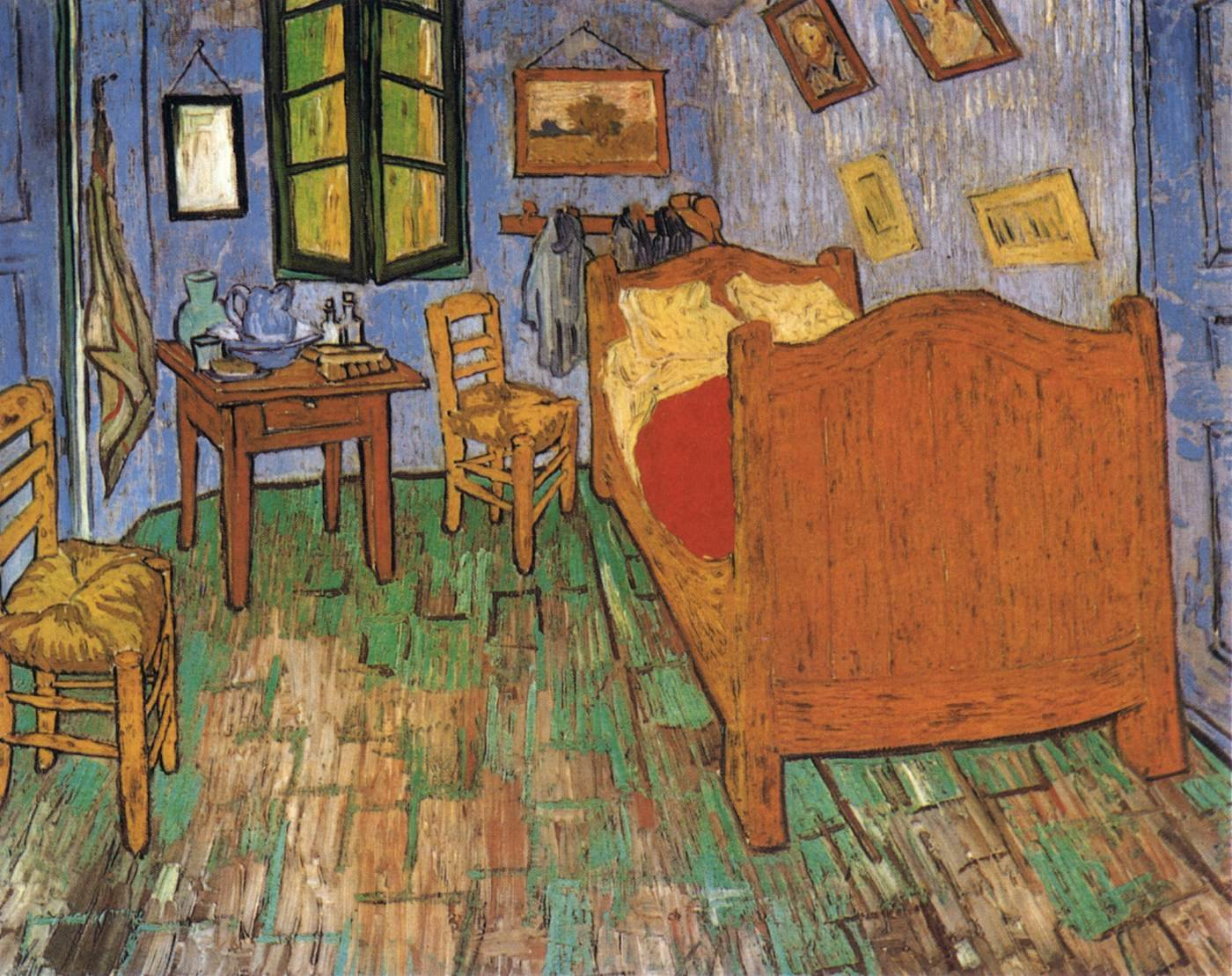 Best Vincent S Bedroom In Arles By Gogh Vincent Van With Pictures