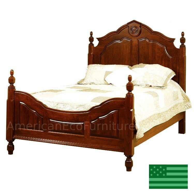 Best Amish Mandalay Bed Solid Wood Made In Usa American With Pictures