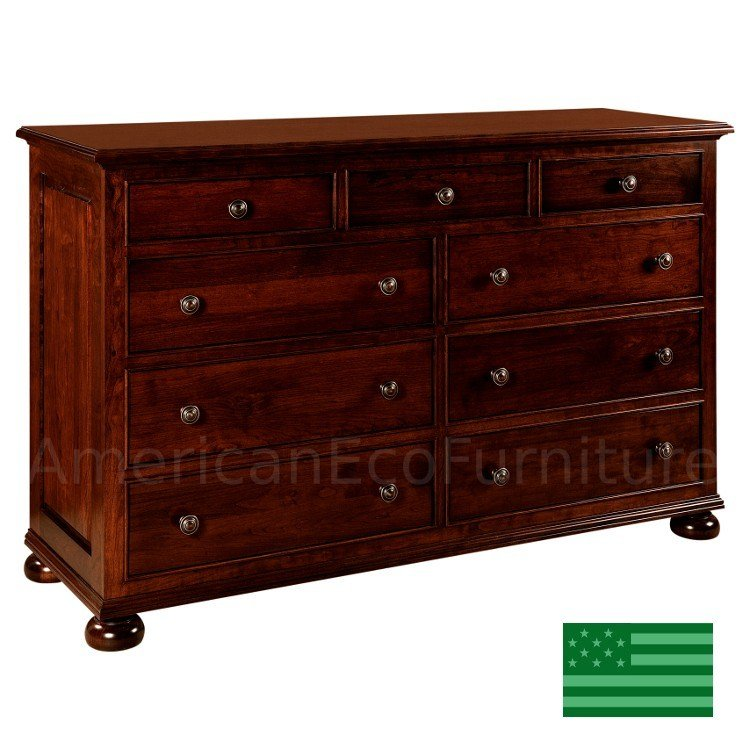 Best Amish Rosemead 9 Drawer Dresser Solid Wood Made In Usa With Pictures