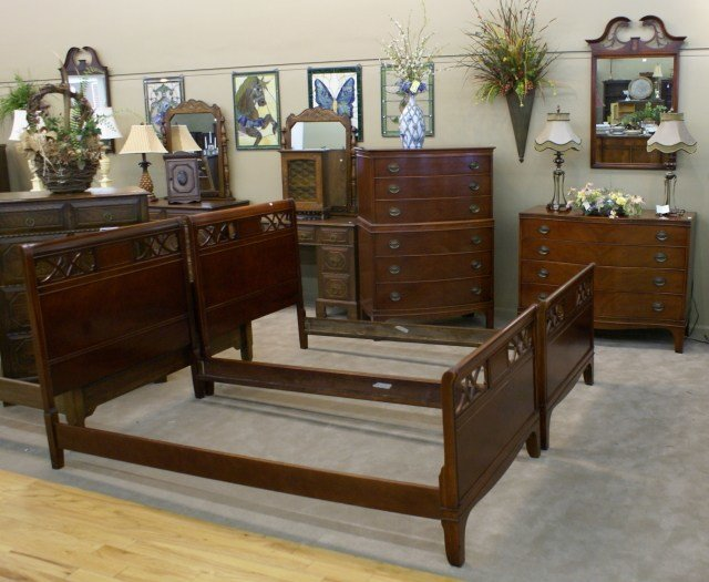 Best Complete Mahogany Twin Bedroom Set For Sale Antiques Com With Pictures