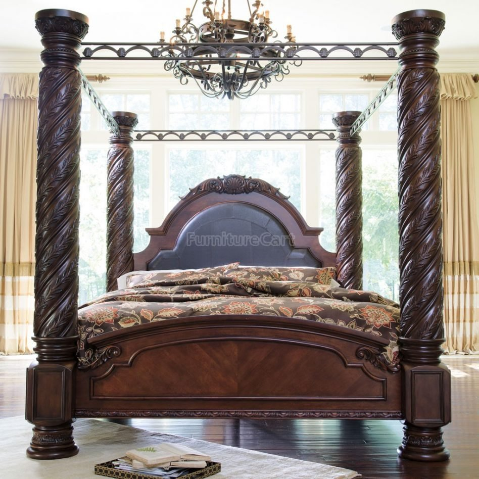 Best Ashley Furniture North Shore Sleigh Bedroom Set In Dark With Pictures