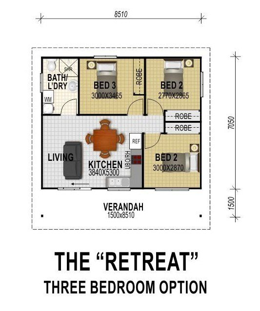 Best The Retreat Three Bedroom Option All Granny Flats With Pictures