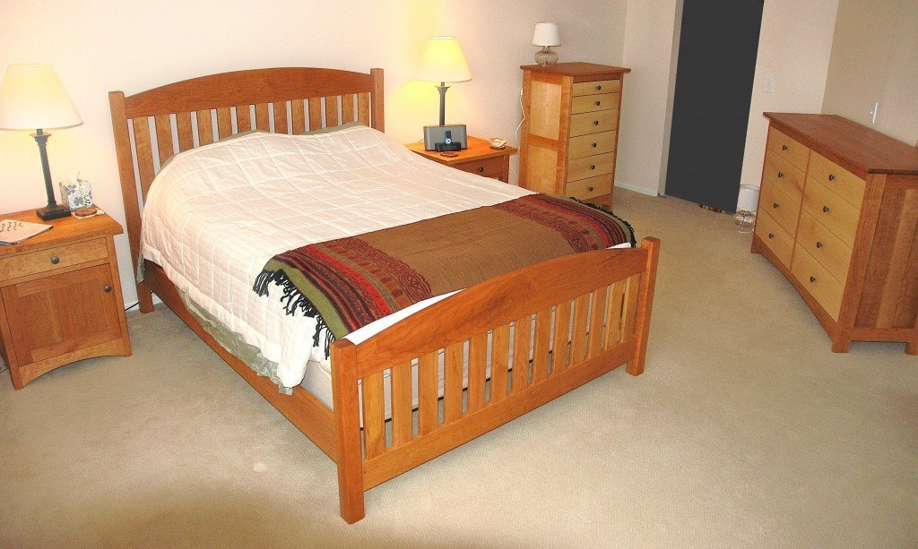Best Solid Cherry And Maple Bedroom Set Boulder Furniture Arts With Pictures