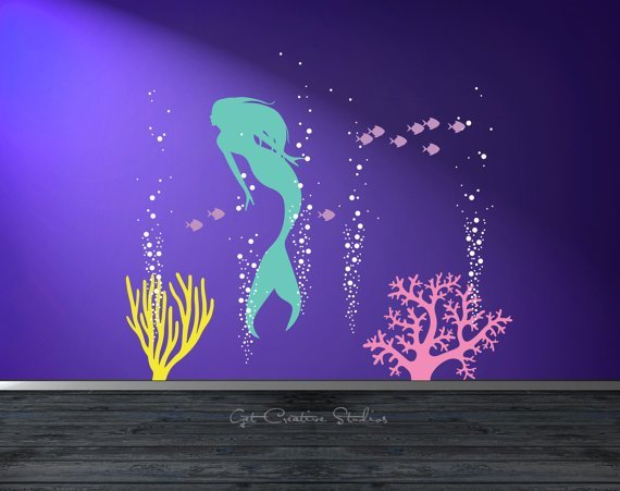 Best Mermaid Wall Decal Bigdiyideas Com With Pictures Original 1024 x 768