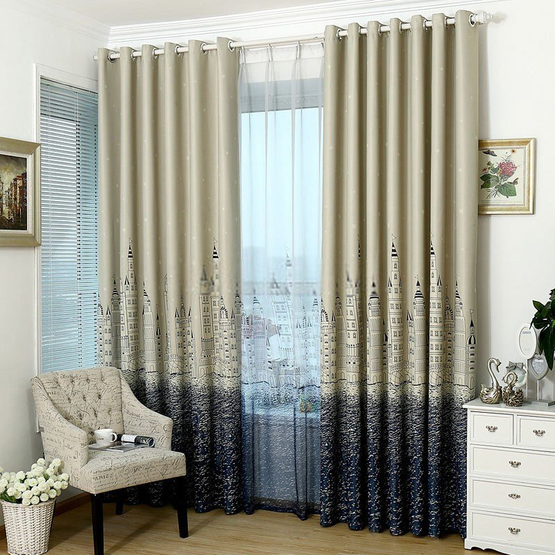Best Kids Bedroom Castle Patterns Wide Blackout Curtains With Pictures