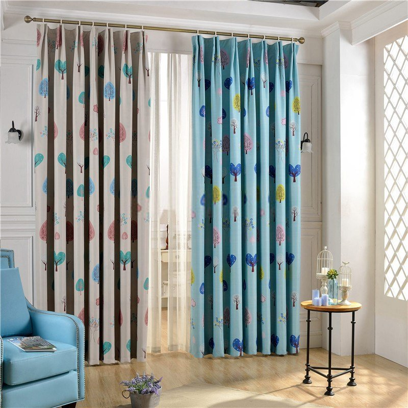 Best Nursery Room Curtains Of Tree Patterns For Kids Bedroom With Pictures