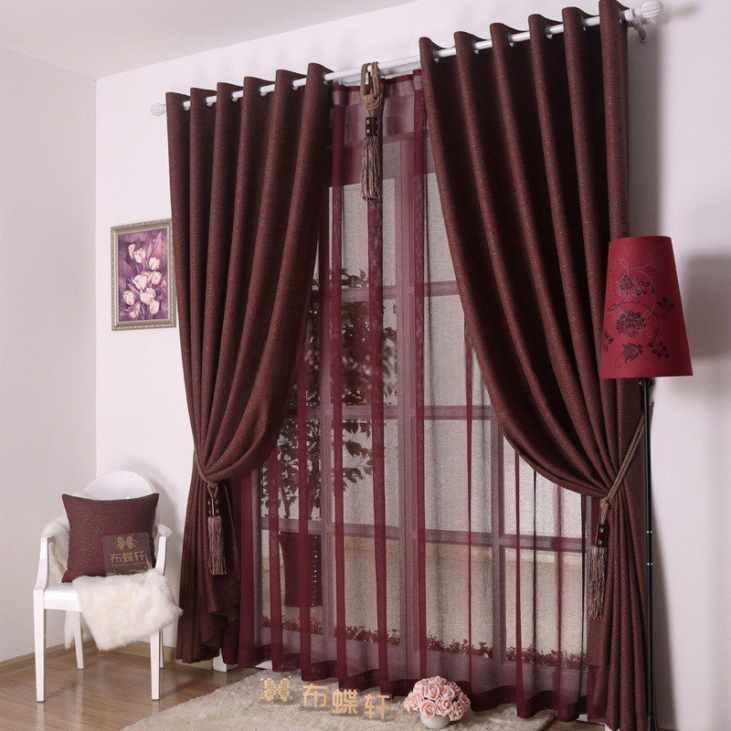 Best Bedroom Or Living Room Decorative Dark Red Curtains With Pictures