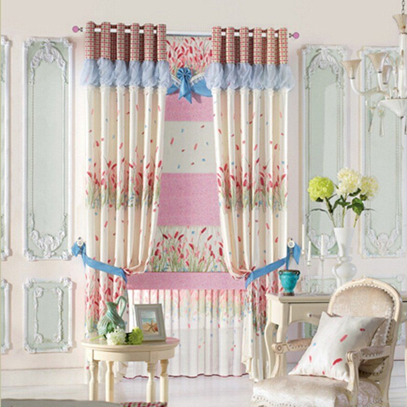 Best Beautiful Printed Privacy Curtain With Floral Pattern For With Pictures