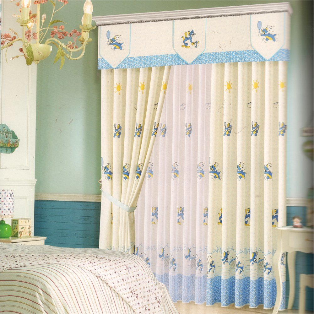 Best Cartoon Patterns Baby Boy Curtains For Nursery No Valance With Pictures