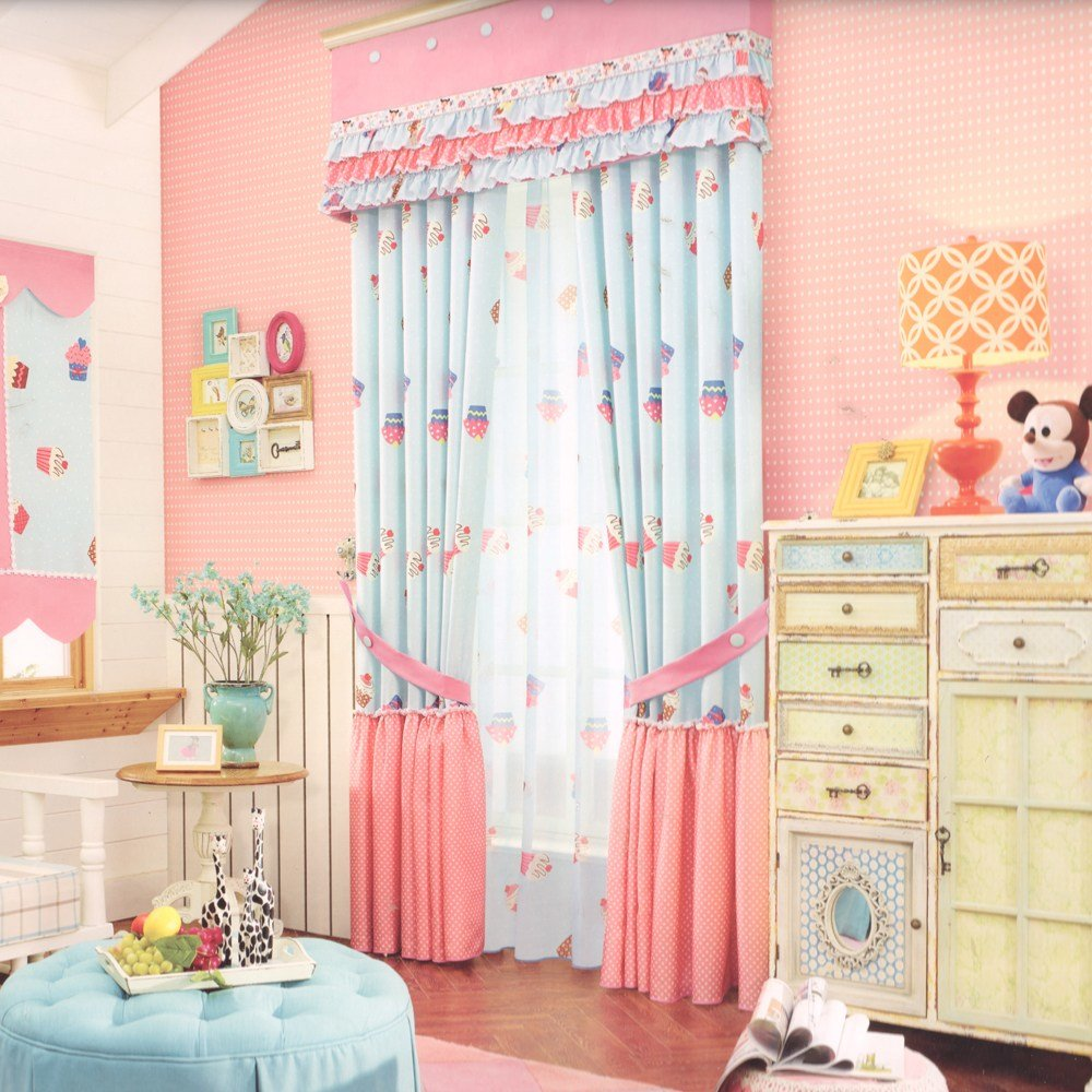 Best Cute Pink Blackout Curtains For Kids Room No Valance With Pictures