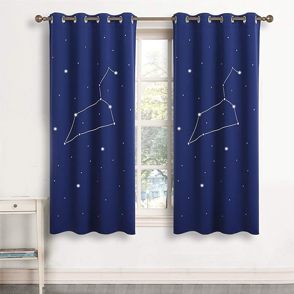 Best Constellation Cool Navy T**N Boys Short Window Curtains With Pictures