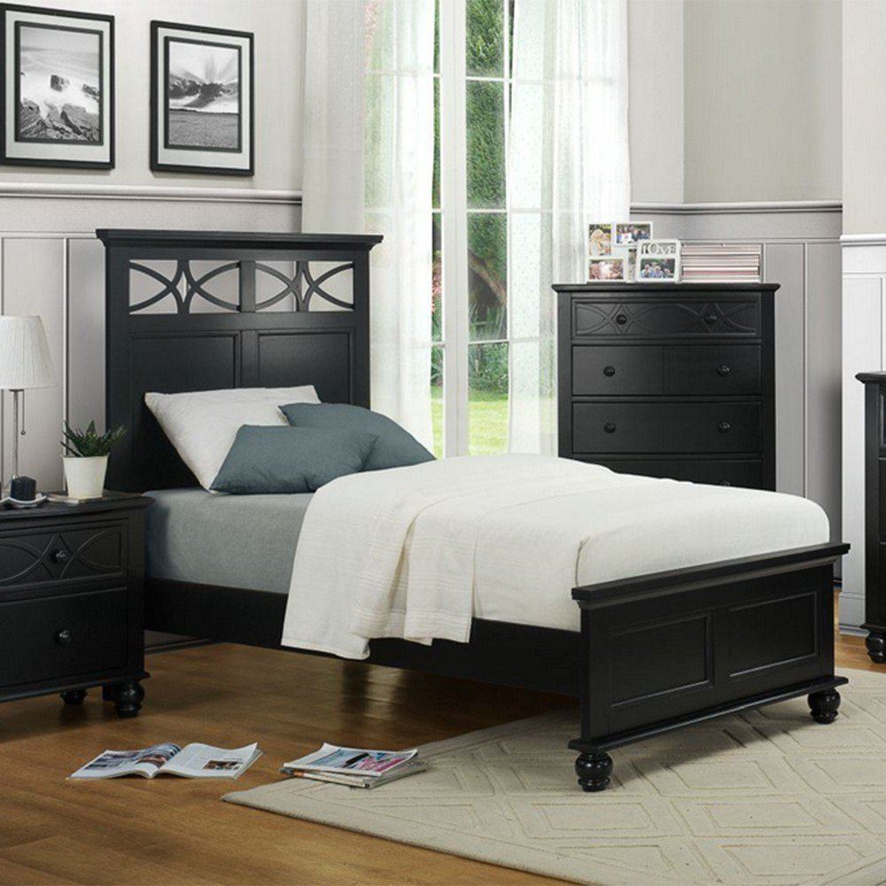Best Dreamfurniture Com 2119Tb Sanibel Bedroom Set Black With Pictures
