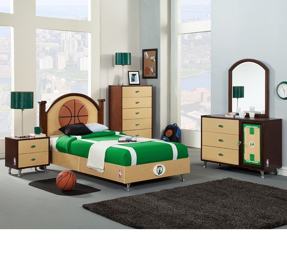 Best Dreamfurniture Com Nba Basketball Boston Celtics Bedroom With Pictures