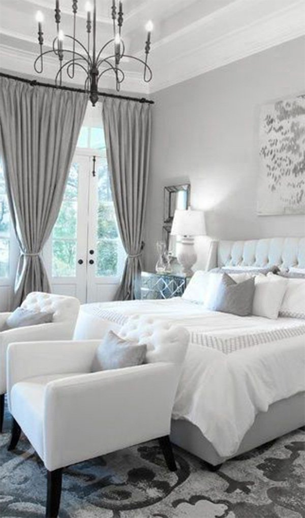 Best Modern Bedrooms Black To White Shading With A Red Touch With Pictures