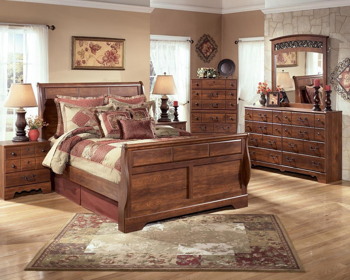 Best Bedroom Ashley Timberline Sleigh Queen King Bed Suite Ebay With Pictures