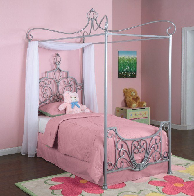 Best Twin Canopy Bedroom Youth Princess Rebecca Bed Set Ebay With Pictures