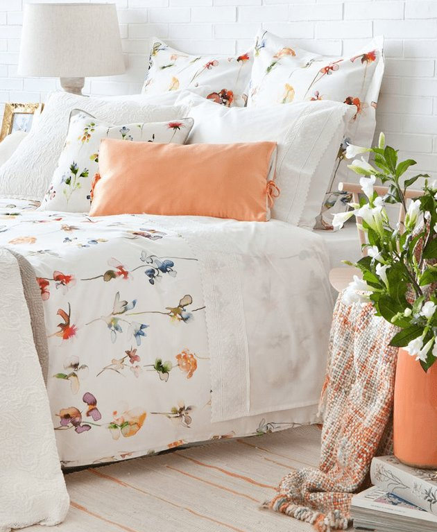 Best Delightful Summer Bedroom Design In Peach And White Digsdigs With Pictures