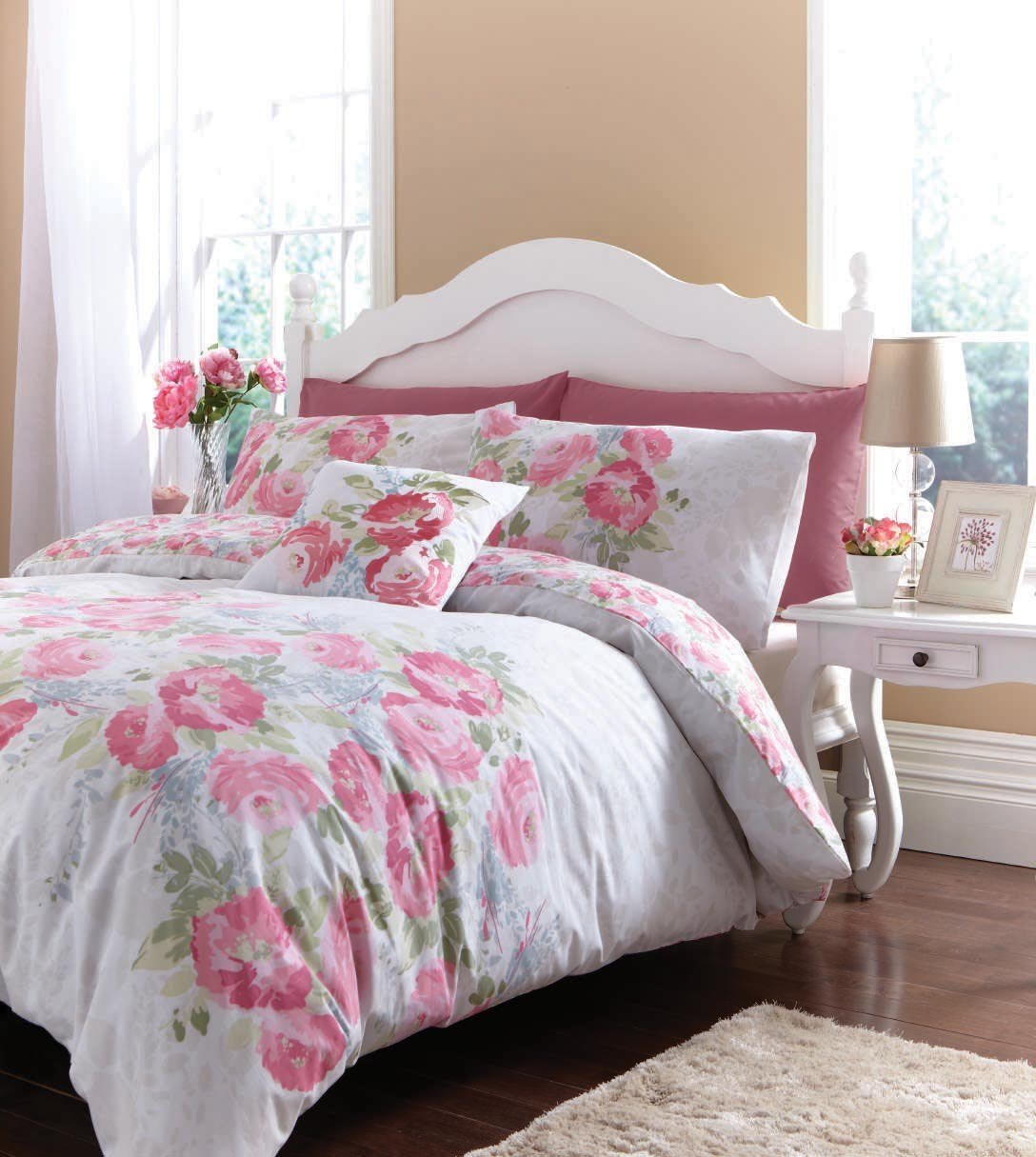 Best Floral Bedding Bed Linen Discount Duvet Cover Set Ebay With Pictures