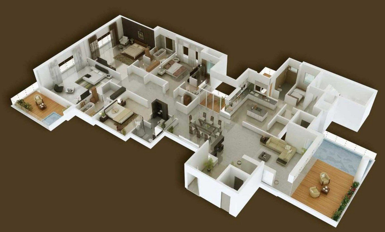 Best 4 Bedroom Apartment House Plans Futura Home Decorating With Pictures