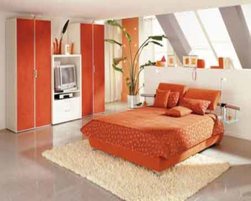 Best Latest Designs Of Bedrooms Orange And Green Bedroom With Pictures