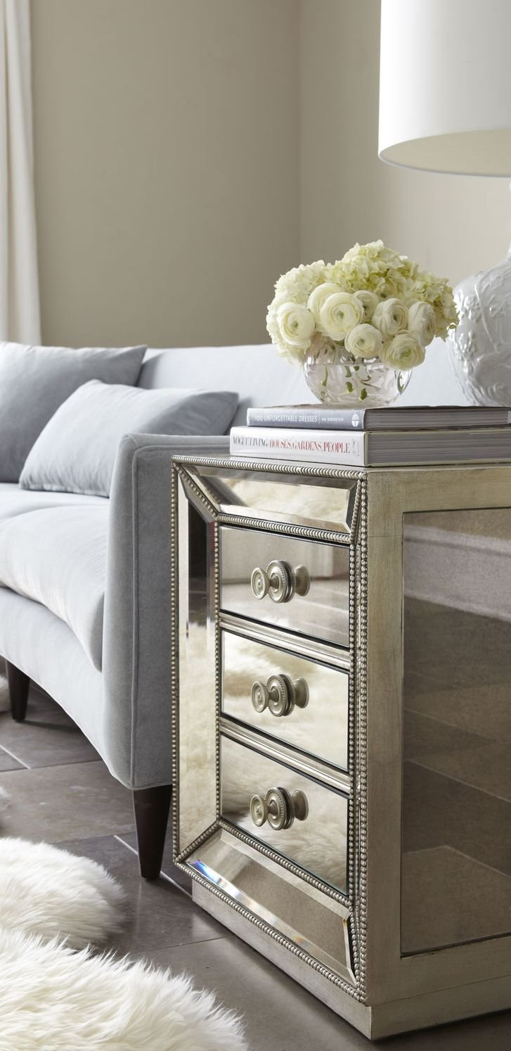 Best Mirrored Side Tables With Drawers Target Mirrored With Pictures