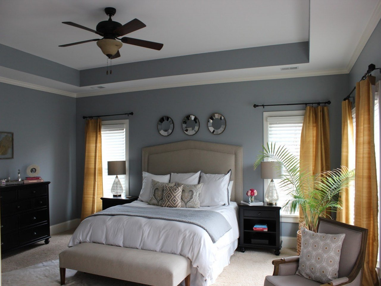 Best Grey Bedrooms Decor Ideas Yellow Grey Bedroom Color Grey With Pictures