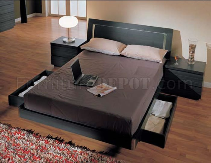 Best Ash Finish Modern 5Pc Bedroom Set W Queen Size Storage Bed With Pictures