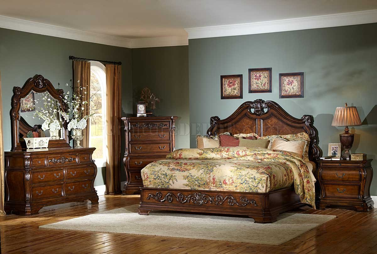 Best Cherry 2106 Cromwell Classic Bedroom By Homelegance W Options With Pictures