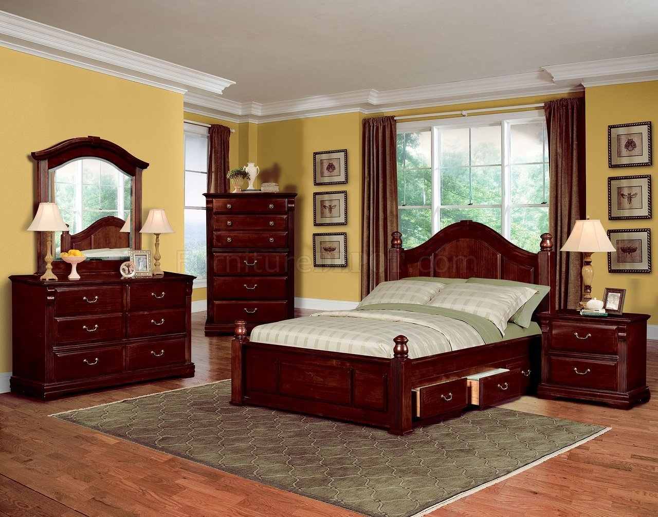 Best Dark Cherry Finish Traditional Kids Bedroom W Optional With Pictures