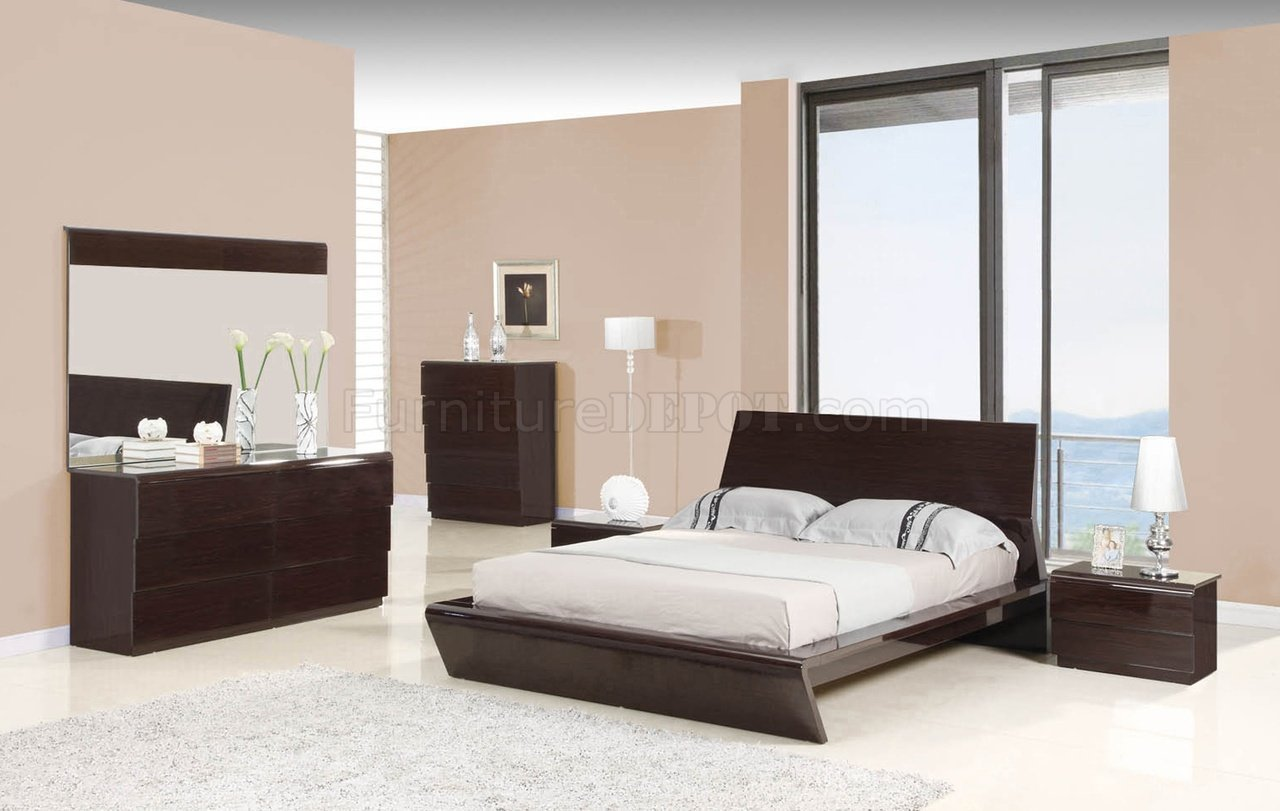 Best Nelly Bedroom In Oak Veneer Wengee W Options By Whiteline With Pictures