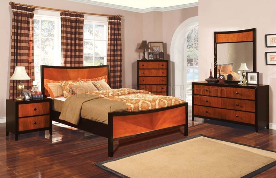 Best Contemporary Two Tone Finish Bedroom Set With Pictures
