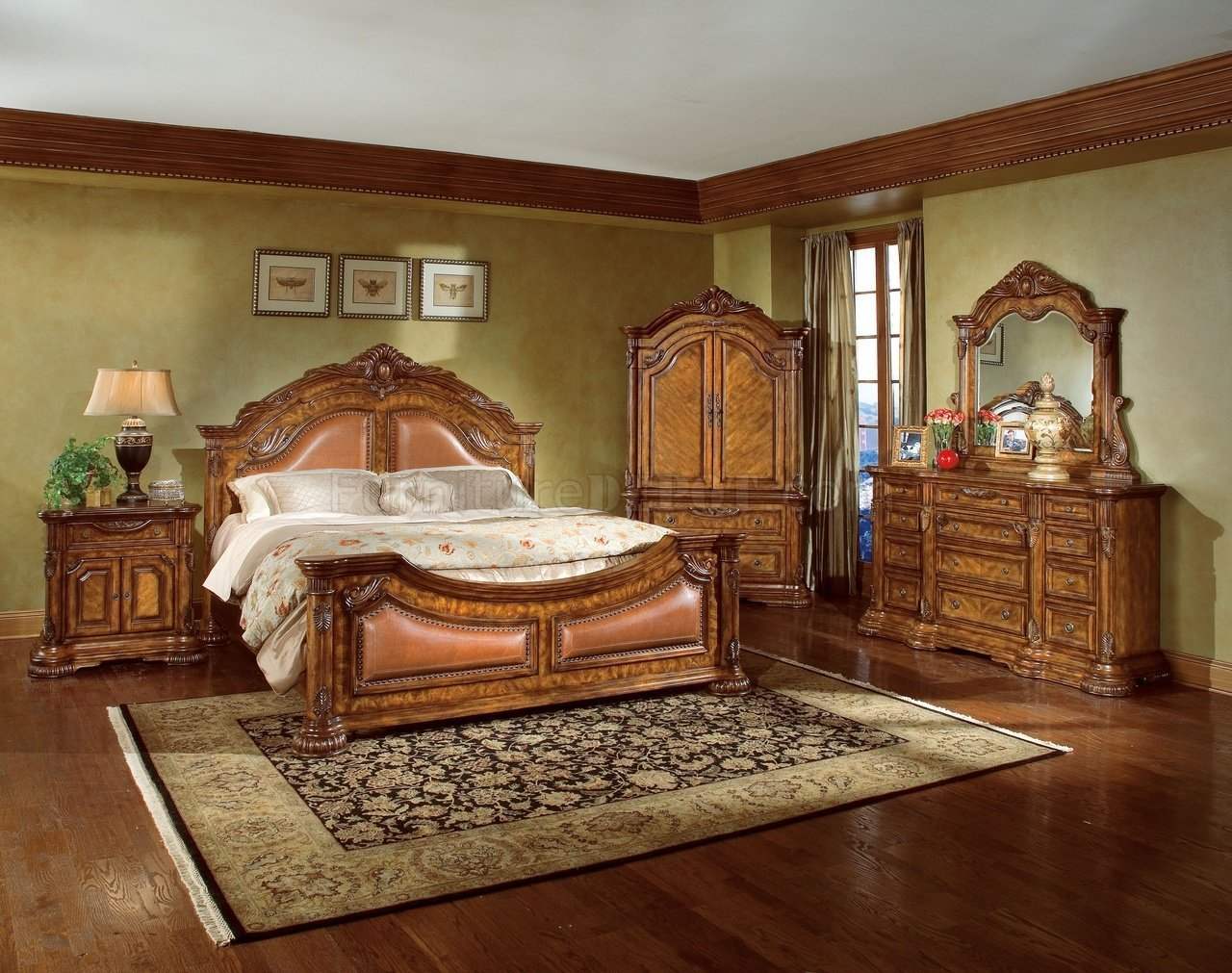 Best Natural Wood Finish Elegant Traditional Bedroom W Hand With Pictures